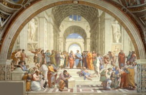 Raphael [Public domain], via Wikimedia Commons http://upload.wikimedia.org/wikipedia/commons/c/c3/ Raphael_School_of_Athens.jpg