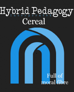 Logo and top text from http://www.hybridpedagogy.com/ with my additions