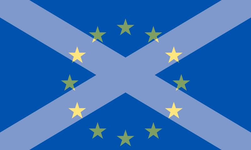 Saltire and EU mashup flag