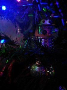 Dalek Mr Potato Head on Xmas tree