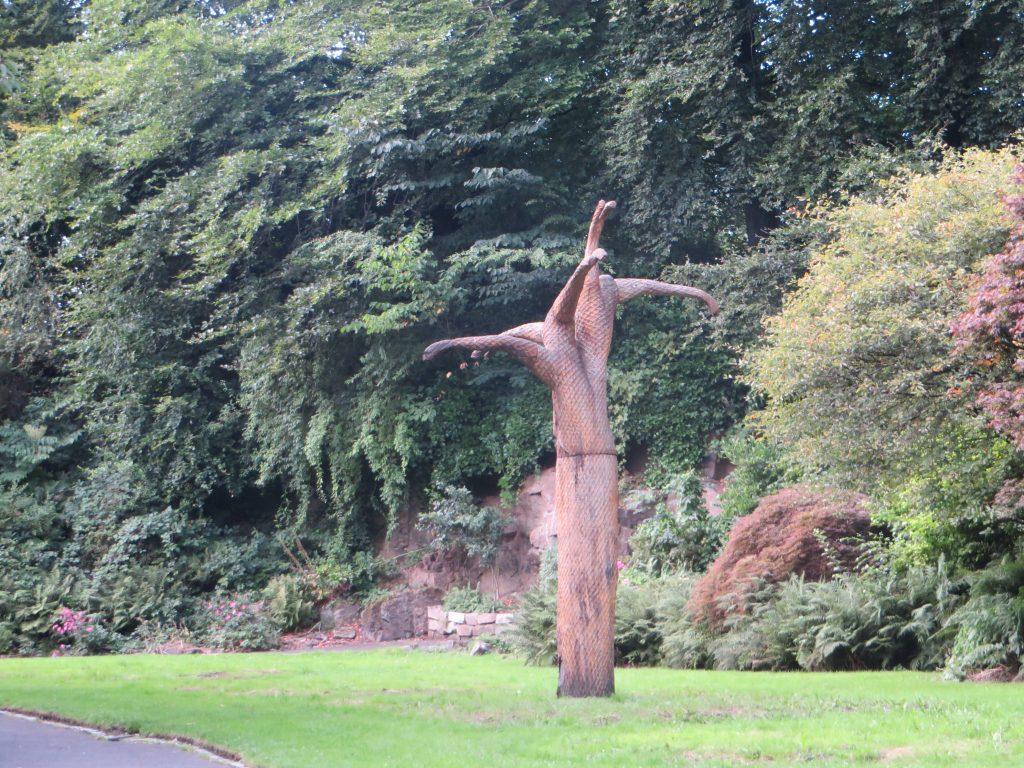 Fossil tree sculpture