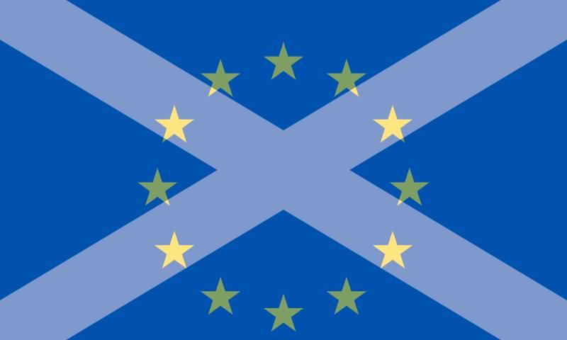 Saltire and EU mashup flag